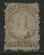 New Zealand QV Chalon Head 1871 1d brown used