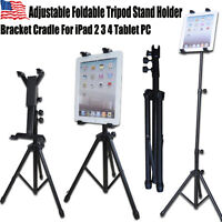 Adjustable Foldable Tripod Stand Holder Bracket For iPad 2 3 Tablet PC NEW LS