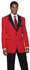 Men'S 2 button Suit Trim pocket Shawl Collar Jacket , Flat- front pants   7022