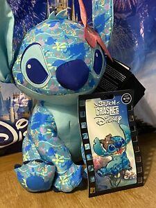 Stitch Crashes Disney The Little Mermaid Plush and Jumbo Pin Set 4 / 12 In Hand