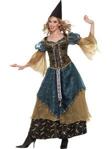 Medieval Renaissance Wizardess Spellcaster Dress Women's Costume