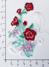 Flower Embroidery Iron On Appliqué Patch
