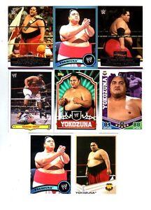 Yokozuna Wrestling Lot of 8 Different Trading Cards 4 Inserts TNA WWE Y-A1