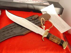 "Down Under Knives 16.25"" Fixed Blade Bowie Crocodile Sheath Knife MINT"