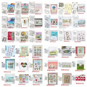 Animals Words Flowers Clear Stamp with Cutting Die Set Diy Scrapbooking Cards