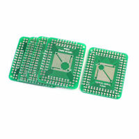 5pcs SMD TQFP/TQFP 0.5mm to 0.8mm IC PCB Board Adapter Socket Plate