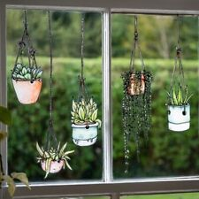 Illustrated Hanging Plants Window Clings and Wall Stickers (Window Cling)
