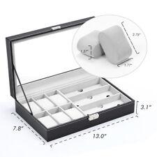 9 Slot Watch Box Jewelry Storage Watch Sunglass with  Display Case Organizer