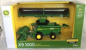 John Deere New X9 1000 Replica Combine ,Draper & Folding Corn Head 1/64 Scale