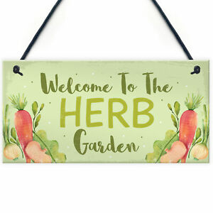 Garden Signs HERB GARDEN Sign Allotment Home Hanging Sign Garden Lover Gifts