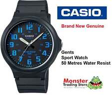 CASIO WATCH SPORTS WATER RESISTANT MW-240-2BVD 12 MONTH WARRANTY