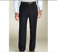New ZANELLA Sz 30 Unfinished BENNETT Black Pleated Men's Classic Dress Pants NWT