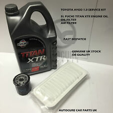 TOYOTA AYGO 1.0 2005-2012 SERVICE KIT OIL + AIR FILTER 5L ENGINE OIL (FITS AYGO)