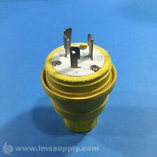 WOODHEAD L5-20P SAFETY YELLOW WATER TIGHT MALE PLUG USIP