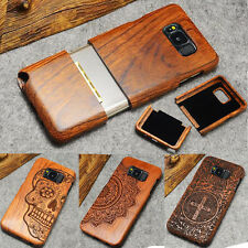 New 100% Natural Wooden Wood Bamboo Phone Case Cover for Samsung GALAXY S8 & S8+