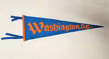 "EARLY 1900'S ANTIQUE GOLD-YELLOW & LT BLUE ""Washington, DC"" FELT TRAVEL PENNANT"