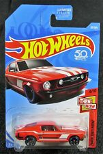 2018 Hot Wheels  Red '67 Mustang  Then and Now  Card #20   HW-31-110917