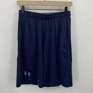 Under Armour Mens Small Raid 10 Inch Athletic Workout Shorts Navy Blue