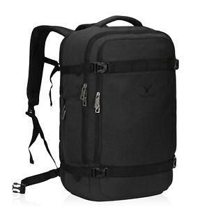 Airline Approved 44L Large Carry-On Backpack Luggage Weekender Bag Dark Grey