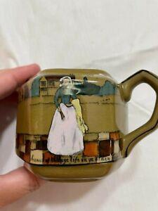 Deldare Ware 1908 Underglaze Pottery Creamer Scenes of Village Life  Signed