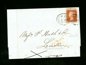1855  Hull Spoon  (Code E) on Cover to London  Scarce Item   (O525)