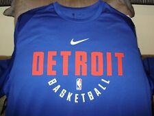 b1e5341e1e77 NBA Detroit Pistons Nike Dry Dri-fit Long Sleeve Practice Shirt Jersey  Men s 2xl