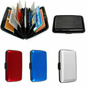 RFID Scan Protected Aluminium Case Security Wallet Bank Credit Card Holder