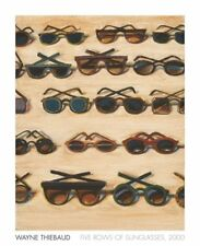 Five Rows of Sunglasses, 2000 by Wayne Thiebaud Art Print Museum Poster 26x32