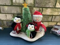 Hallmark 2006 JINGLE PALS Christmas VERY MERRY TRIO Plush SNOWMAN & PENGUINS