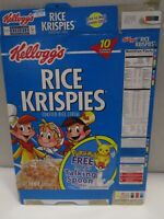 Kellogg's Rice Krispies 2001 Pokemon Talking Spoon Offer Cereal Box ~Used~ Flat