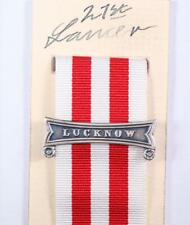 BRITISH ARMY NAVY INDIAN MUTINY FULL SIZE MEDAL LUCKNOW CLASP BAR SEPOY REBELS