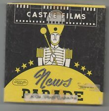""" NEWS GREATEST HEADLINES - QUIZ ""  .VINTAGE  8mm  CASTLE  HOME MOVIE - 200ft,"