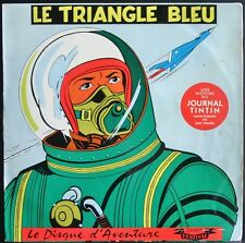 LE TRIANGLE BLEU Rarissime 25CM Bande Dessinée Original Biem JOURNAL DE TINTIN