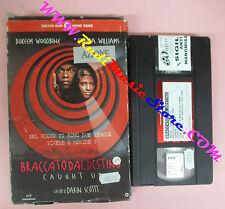 VHS film BRACCATO DAL DESTINO Woodbine Williams CECCHI GORI PRC0613(F152)*no dvd