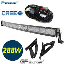 50in Curved LED Lamp Light Bar +Brackets +Relay Harness for Nissan Titan 04-15-^