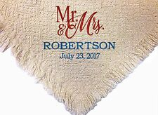 Personalized Embroidered Wedding Anniversary Throw Blanket ~ Mr and Mrs Throw  ~