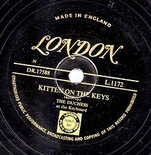 SCARCE GOLD LONDON 78 THE DUCHESS KITTEN ON THE KEYS / RAGGING THE SCALE L1172 E