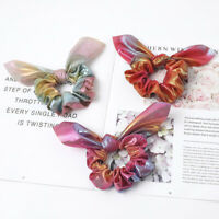 Glitter Knotted Rabbit Ears Scrunchies Hair Rings Elastic Bands For Women Girls