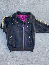 Vintage APPLE BOTTOMS Sexy Michael Jackson Jacket Gold Bling Womens Sz L ❤️sj7m4