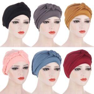 Women Ladies Hair Loss Hijab Head Cancer Chemo Cap Muslim Turban Hat Wrap Soft