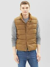 GAP Men's PrimaLoft Luxe Quilted Puffer Vest Syrup Brown Tan Medium M NWT
