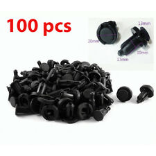 100 Pcs Bumper Clips 10mm Hood Fender Rivets Retainer Fasteners for Honda Acura