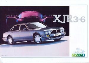Jaguar XJR 3.6 XJ40 UK market sales brochure/leaflet