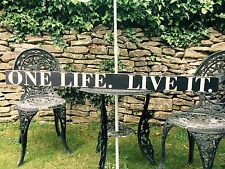 One Life Live It Sign vintage Old Look 4ft Pub Hotel BBQ Land Rover VW Kitchen