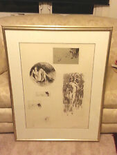Leroy Neiman Six Nudes Ltd Edition Etching #104 of 250– Double Matted/Frmed/ COA