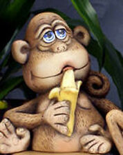 Ceramic Bisque Ready to Paint Chico the Monkey with Banana