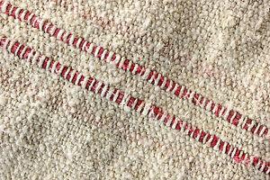Antique GRAIN SACK feedsack feedbag  stripe ~ grainbag European grainsack 23WIDE