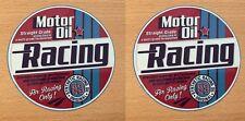 2x motor aceite oil gasoline Pegatina Sticker racing Oldtimer muscle car v8 m012
