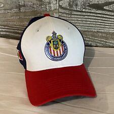 New Era 3930 Chivas Guadalajara Baseball Cap Sm/Med Red/Wht And Blue
