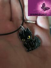 BN 2018 HOW TO TRAIN YOUR DRAGON 2 TOOTHLESS NIGHT FURY ANIME BLK NECKLACE 191